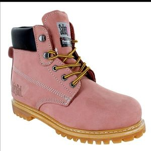SAFETY GIRL II Insulated LtPink Work Boot -Sz 10.5
